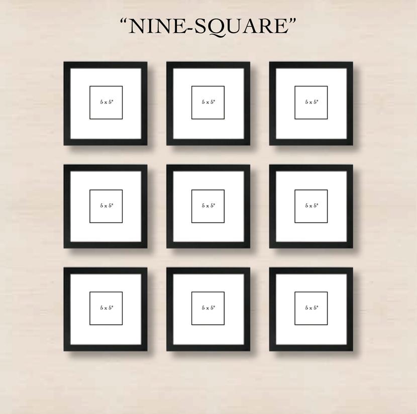 галерея на стене 9 квадратов