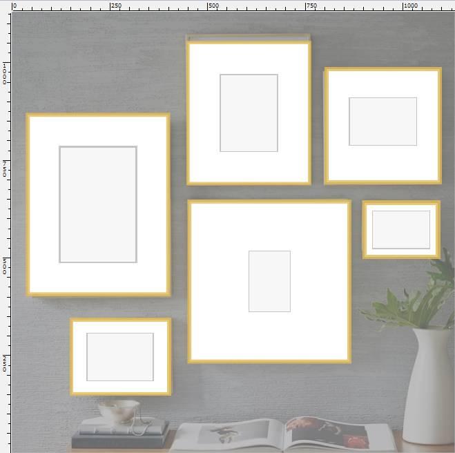 Коллаж из 6 рамок