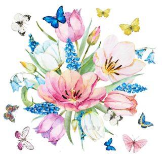 Весна, цветочная акварель.