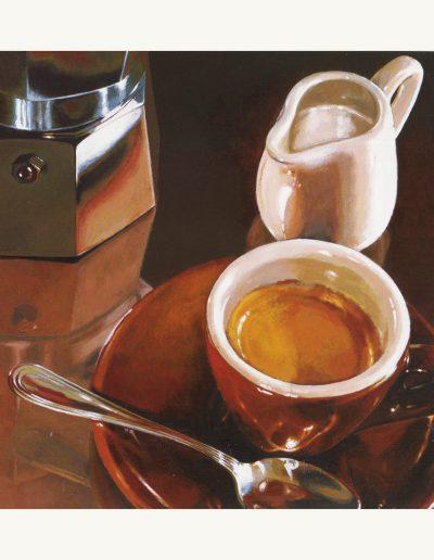 "Репродукция картина - ""Два Кофе Капучино"" для кухни"